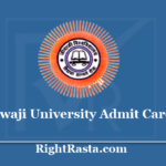 Jiwaji University Admit Card 2020 - Download JU Semester Exam Hall Ticket