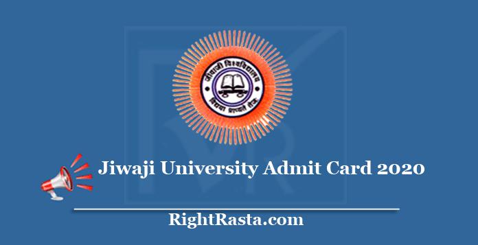 Jiwaji University Admit Card 2020