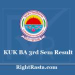 KUK BA 3rd Sem Result 2020 - Kurukshetra University B.A Semester 3 Exam Result 2019 @ kuk.ac.in