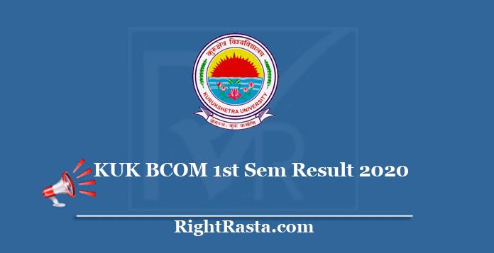 KUK BCOM 1st Sem Result