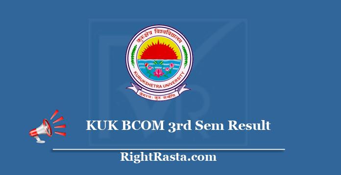 KUK BCOM 3rd Sem Result