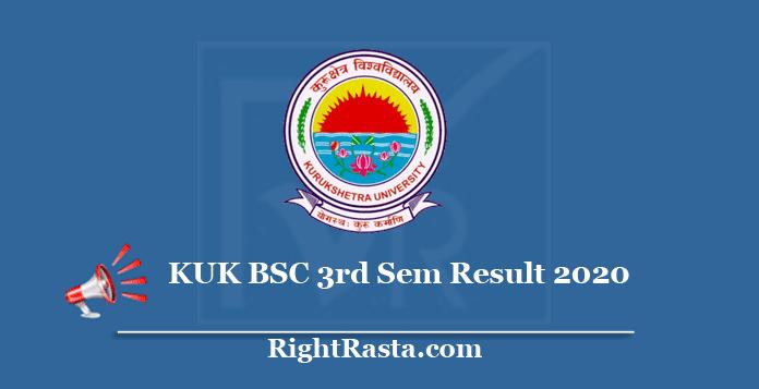 KUK BSC 3rd Sem Result