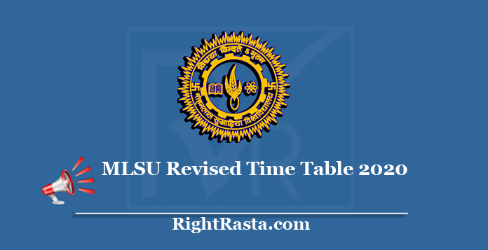 MLSU Revised Time Table