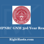 MPNRC GNM 3rd Year Result 2020 - General Nursing Midwifery Results on www.mpnrc.org