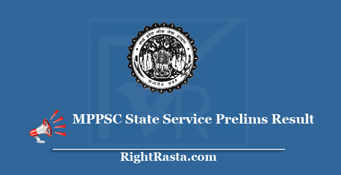 MPPSC State Service Prelims Result 2019