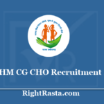 NHM CG CHO Recruitment 2020 - Apply for Chhattisgarh Health Community Health Officer Vacancy