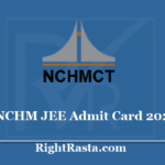 nchm.nic.in JEE Admit Card 2020 - National Council for Hotel Management New Exam Date