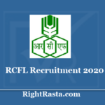 RCFL Recruitment 2020 - RCF Management Trainee Engineer Operator Trainee Junior Fireman