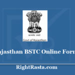 Rajasthan BSTC Online Form 2020 - Apply for Entrance Exam