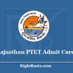 Rajasthan PTET Admit Card 2020 - Check Pre B.Ed Entrance Exam Updates @ ptetdcb2020.com