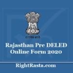 Rajasthan Pre DELED Online Form 2020 (Admit Card Released) @ predeled.com