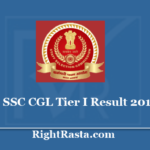 SSC CGL Tier I Result With Marks 2019 - Download Prelims Exam Cut Off Marks at www.ssc.nic.in