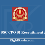SSC CPO SI Recruitment 2020 - Apply Online Form for Sub Inspector Vacancy