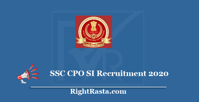 SSC CPO SI Recruitment 2020