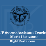 UP 69000 Assistant Teacher Merit List 2020 - Download Shikshak Bharti Final District Allotment PDF