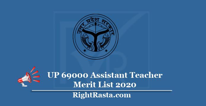 UP 69000 Assistant Teacher Merit List