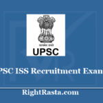 UPSC ISS Recruitment Exam 2020 - Apply Online for Indian Statistical Service Exam