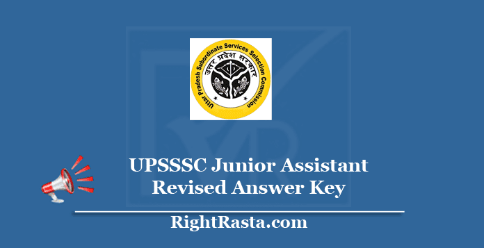 UPSSSC Junior Assistant Revised Answer Key 2020