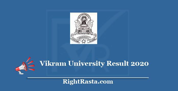 Vikram University Result 2020