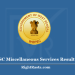 WBPSC Miscellaneous Services Result 2020 (Out) - PSC MS Exam Cut Off Marks