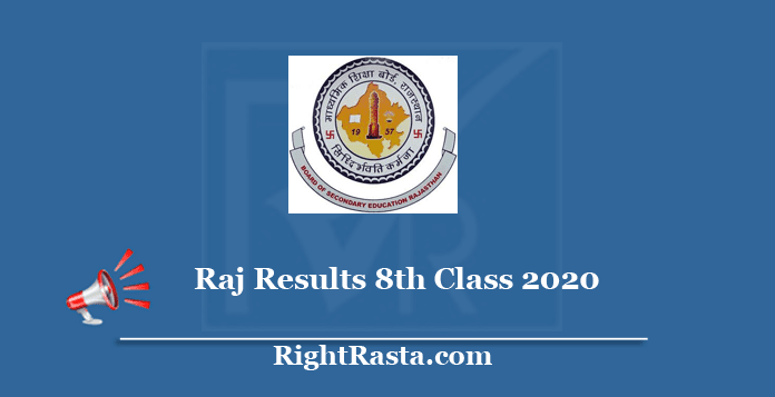 rajresults.nic.in 8th Class Result