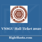 vnsgu.ac.in Hall Ticket 2020 - Download UG/PG Admit Card @ vnsguexam/e-Hall_ticket.php