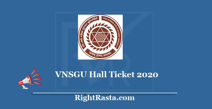 vnsgu.ac.in Hall Ticket