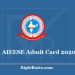 AIEESE Admit Card 2020 - Download All India Engineering Entrance Scholarship Secondary Hall Ticket