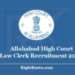 Allahabad High Court Law Clerk Recruitment 2020 - Apply For AHC LC Vacancy