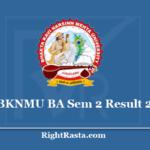BKNMU BA Sem 2 Result 2020 - Bhakta Kavi Narsinh Mehta University B.A. 2nd Semester Result PDF