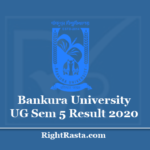 Bankura University UG Sem 5 Result 2020 (Out) Download BKU Semester 5th Results