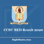 CCSU BED Result 2020 - Download CCS B.Ed 1st and 2nd Year Exam Results