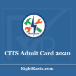 CITS Admit Card 2020 (Out) - Download AICET CTI Entrance Exam Hall Ticket