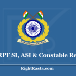 CRPF SI, ASI & Constable Recruitment 2020 - Apply Offline for Paramedical Staff Vacancy