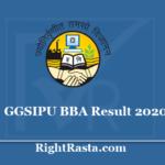 GGSIPU BBA Result 2020 - Guru Gobind Singh Indraprastha University IPU B.B.A Results 2019