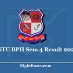 GTU BPH Sem 4 Result 2020 - Gujarat Technological University 4th Semester Results
