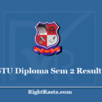 GTU Diploma Sem 2 Result 2020 - Download Gujarat Technological University Semester 2nd Results