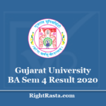 Gujarat University BA Sem 4 Result 2020 - Download GU B.A. 4th Semester