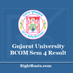 Gujarat University BCOM Sem 4 Result 2020 - Download GU B.Com 4th Semester