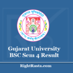 Gujarat University BSC Sem 4 Result 2020 - Download GU B.Sc 4th Semester Results @ www.gujaratuniversity.ac.in