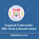 Gujarat University BSC Sem 5 Result 2020 - GU B.Sc 5th Semester Results @ www.gujaratuniversity.ac.in