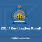 KSLU Revaluation Result 2020 - Karnataka State Law University LLB ChallengeValuation results