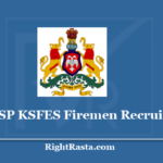 KSP KSFES Fireman Recruitment 2020 - Apply Online For Karnataka State Fire Service Vacancy