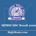 MPBSE HSC Result 2020 - Download MP Board 10th Class Results