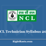 NCL Technician Syllabus 2020 - Download Exam Pattern for Assistant Foreman