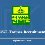 NSCL Trainee Recruitment 2020 - Apply Online For National Seeds Corporation 224 Vacancy