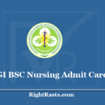 PGI BSC Nursing Admit Card 2020 - Download PGIMER Chandigarh B.Sc. Entrance Exam Hall Ticket