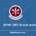 RPMC DRT Result 2020 - Rajasthan Paramedical Medical Council Part II Exam Results