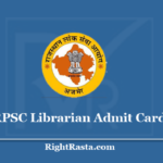 RPSC Librarian Admit Card 2020 - Download Rajasthan PSC Written Exam Call Letter