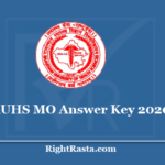 RUHS MO Answer Key 2020 - Download Medical Officer Question Paper PDF